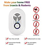 KEKH Pest Repeller, Ultrasonic Pest Control Repellent Reject Plug In for Insects, Spiders ,Mice , Roaches ,Bugs , Fleas , Ants and Mosquitoes (white4)
