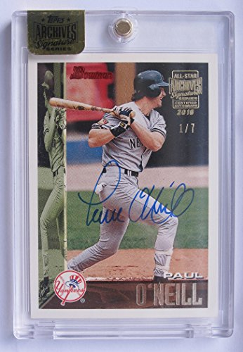 Paul O'Neill 2016 Topps Archives Encased 1995 Bowman On Card Auto Serial #1/7 New York Yankees Autograph (Oneill Auto)