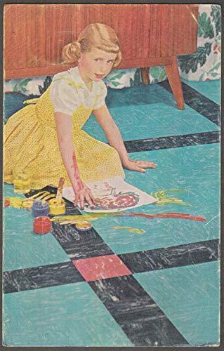 Sloane-Delaware Flor-Ever Vinyl Tile advertising postcard ca 1950s