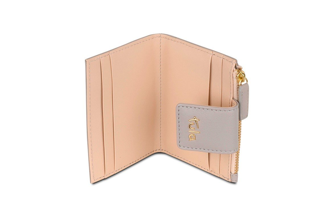 Tula by Radley Small Leather Zip Top Credit Card Holder - Mouse ...