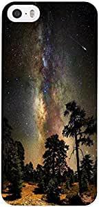 Case for Apple Iphone 5 5S 5G Beautiful Starry Night Trees Hard Unique Designer Slim Pattern Thin Protective Shockproof Drop Proof