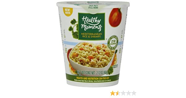 Healthy Moments Mediterranean Rice and Shrimps, 2.12 Ounce (Pack of 12)