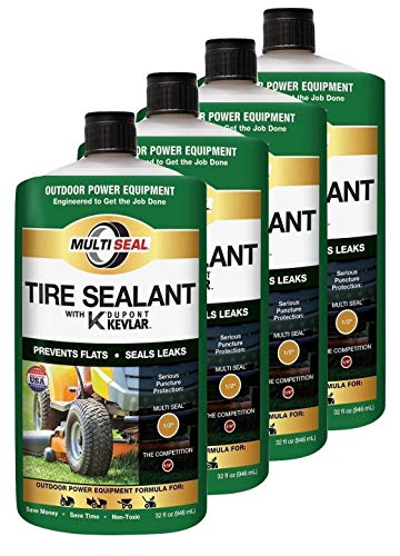 MULTI SEAL 20124 Tire Sealant with Kevlar (Outdoor Power Equipment Formula), Great for Lawn Mowers, Small Tractors, Wheelbarrows, Wood Chippers, Snow Blowers and more, 4-Pack (128 oz.)