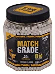 GameFace 20GBW5J 5000 Count Match Grade White Airsoft BBs, 0.20gm