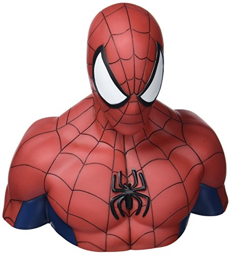 Spider Bank Man - Semic Distribution - bbsm001 - Marvel Deluxe Spiderman Bust Bank - Piggy Bank