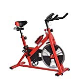 Soozier Upright Stationary Exercise Cycling Bike w/ LCD Monitor – Red and Black Review