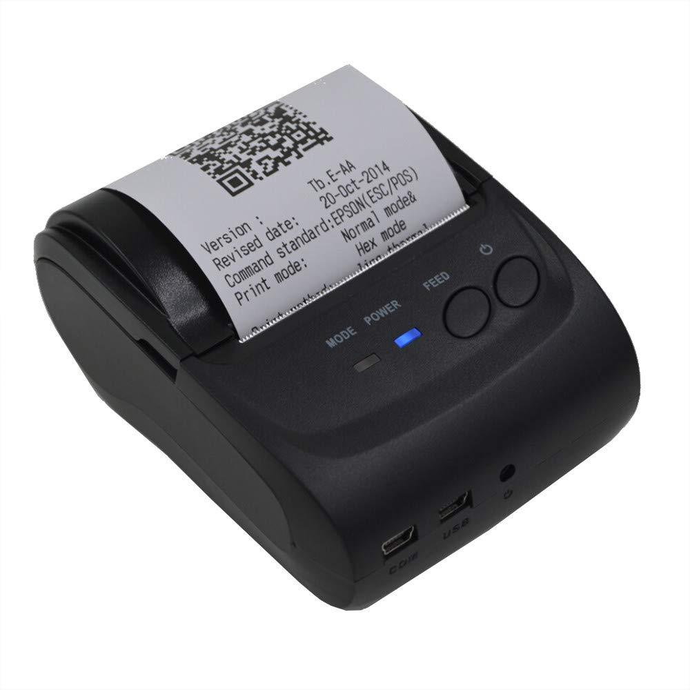 Ateboo US Ship Mini 58mm Bluetooth Wireless Mobile POS 5802DD Thermal Receipt Printer