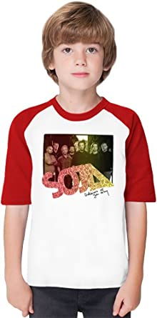 1573fae2 SOJA Soldiers Of Jah Army Soft Material Baseball Kids T-Shirt by True Fans  Apparel - 100% Organic, Hypoallergenic Cotton- Casual & Sports Wear -  Unisex for ...