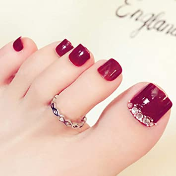 Amazon.com: Sethexy - 24 uñas postizas con diamantes de ...