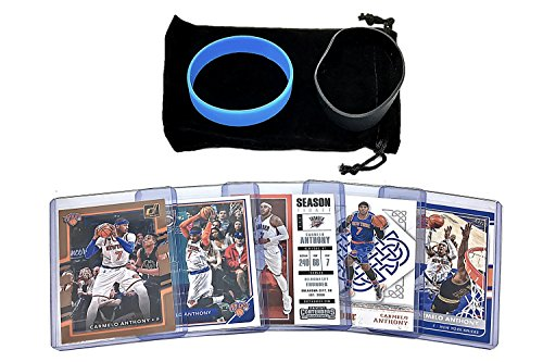 Carmelo Anthony Basketball Cards Assorted  5  Bundle   New York Knicks  Oklahoma City Thunder Trading Card Gift Pack   7