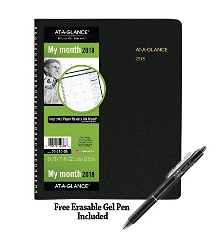 Monthly Planner, January 2018 - March 2019, 8-7/8