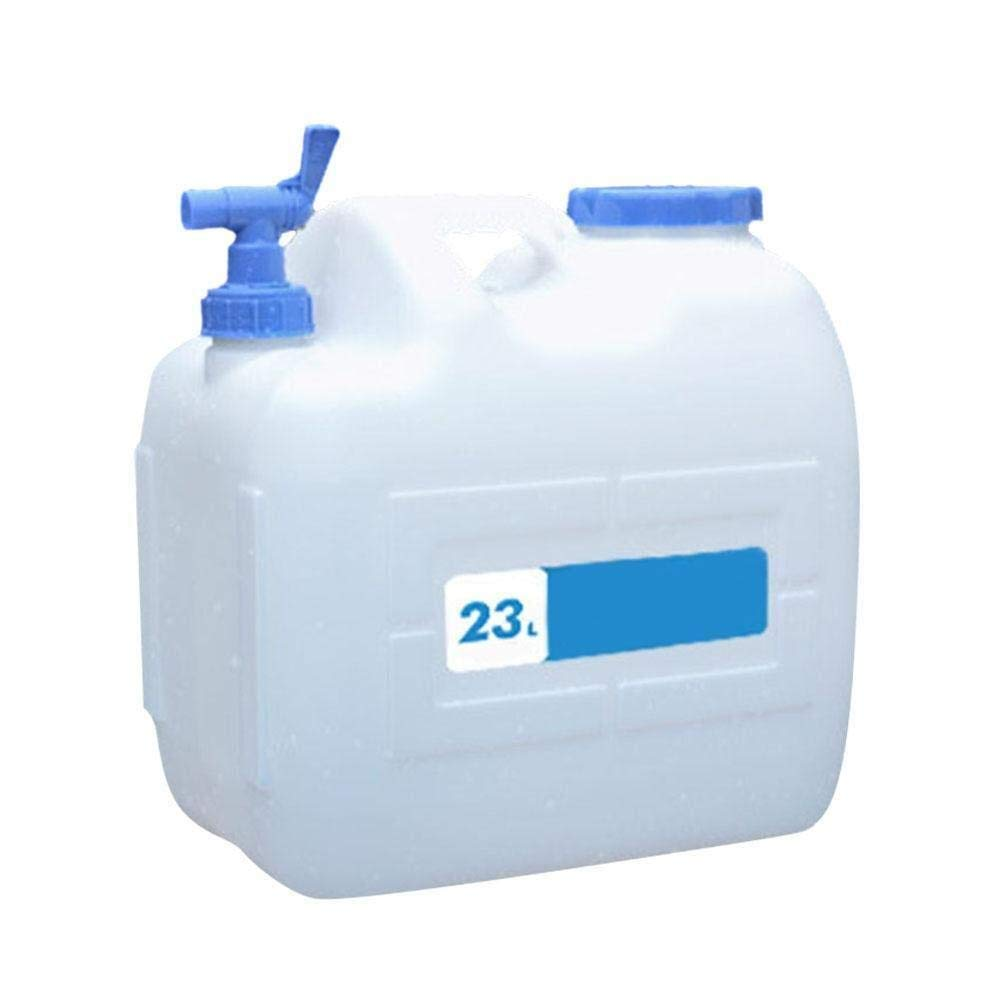 Water Container, 10L/15L/18L/23L Plastic Storage Tank with Faucet Portable Cubic Water Container Camping Car Bucket Household Pure Bucket (Size : 23L) by QING MEI-bucket