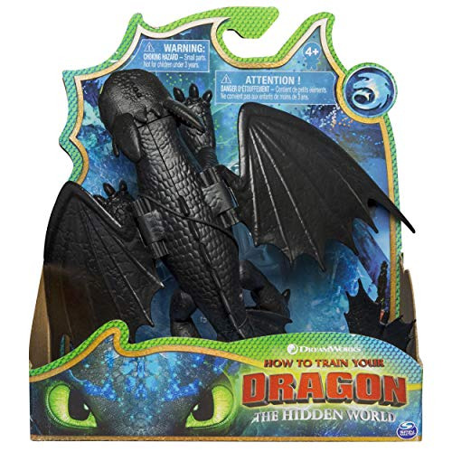 - Dreamworks Dragons, Toothless Dragon Figure with Moving Parts, for Kids Aged 4 and Up