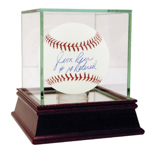 Jim-Rice-Autographed-MLB-Major-League-Baseball-with-14-Retired-inscribed-Case-is-NOT-Included