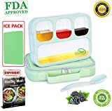 Bento Lunch Box Set | Eco-Friendly, BPA Free, Leakproof Container & Airtight Lid | For Healthy, Dry & Liquid Food, Portion Control, Meal Prep, Adults & Kids | Includes Spoon & lunch bag | By SaferMeal