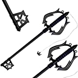 This is a beautifully crafted Oblivion Keyblade made out out of metal.This blade is the keychain for Sora's Keyblade. It was also one of the two blades that Roxas would wield, along with Oathkeeper. This blade is black all over, with a foam handle. T...