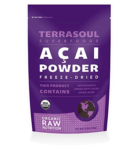 Terrasoul Superfoods Acai Berry Powder (Freeze-dried, Organic)