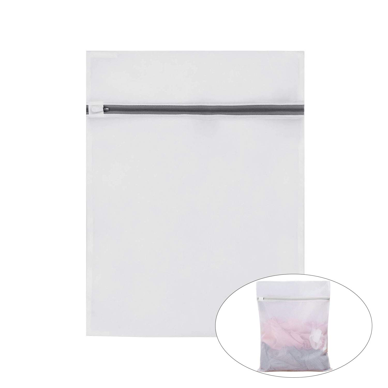 Mesh Laundry Lingerie Bag Zipper Closure Washing Machine and Dry Safe for Home Travel College Dorm White Cupidkiss Laundry Wash Bags