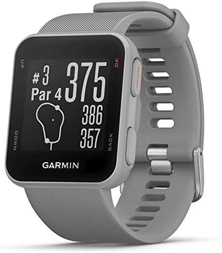 Garmin Approach S10 – Lightweight GPS Golf Watch Powder Grey 010-02028-01 with Deluxe Golf Bundle Includes, 7-in-1 Golf Tool Zippered Headcover Set for Golf Club Screen Protector 2Pack
