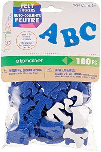 - Darice FLT-1012 100Piece, Felties Felt Stickers, Royal Blue Alphabet