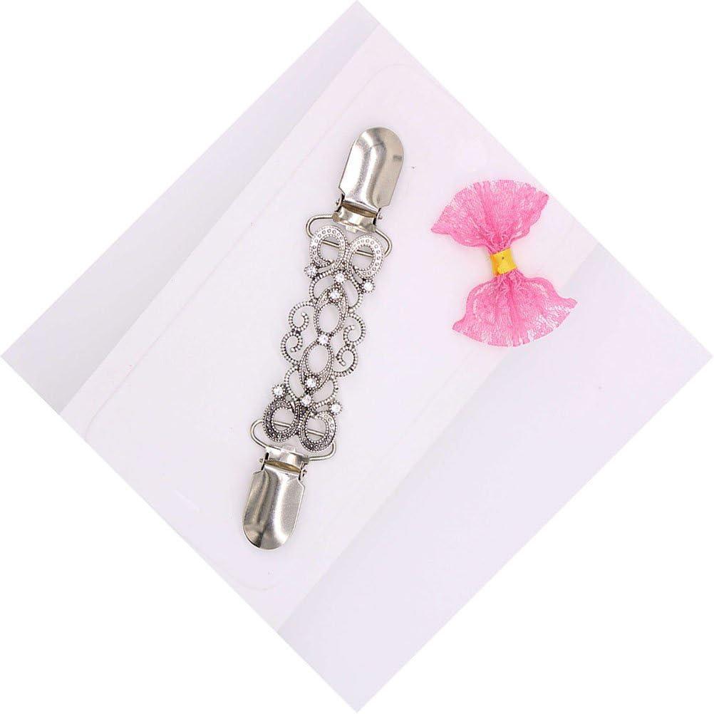 Schal-Clips Halskette Brosche f/ür M/änner und Frauen Pato-Box Clip Broschen Charms FENICAL Kragen Kristall Pullover Clip