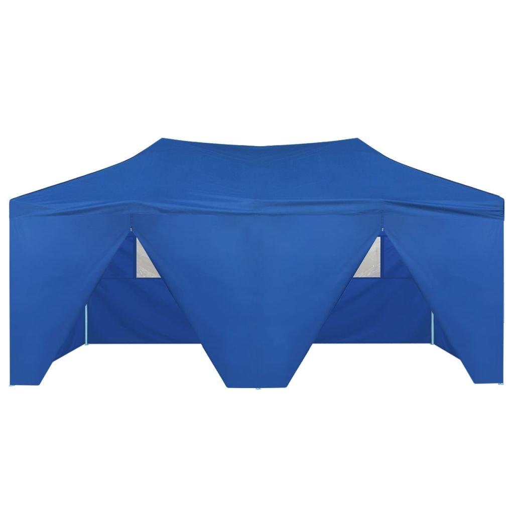 Festnight Carpa Impermeable Desplegable con 4 Paredes Marquesina 3x6 m Azul