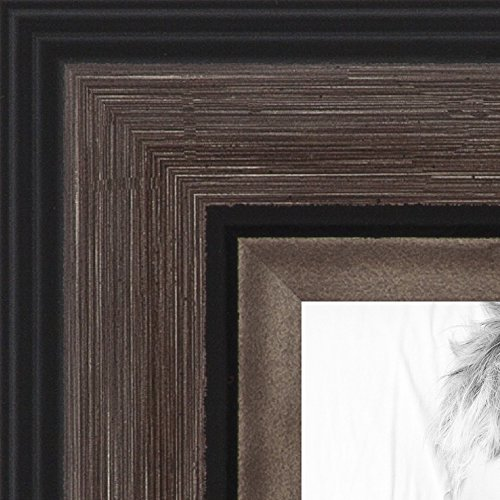 ArtToFrames 16x20 inch Grey and Black Frame Picture Frame, W