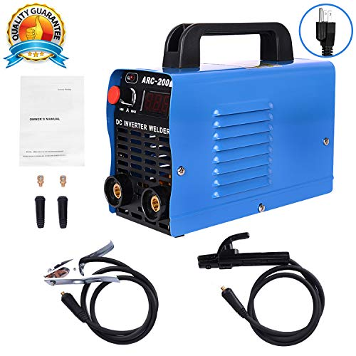 ARC Welding Machine, 200Amp Power, IGBT AC-DC 110V Beginner Welder Use Welding Rod Equipment Tools Accessories(blue) ... from S7