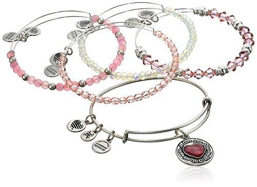 Alex and Ani I Love You Mom Set of Five Rafaelian Silver Bangle Bracelet by Alex and Ani