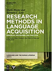 Research Methods in Language Acquisition: Principles, Procedures, and Practices
