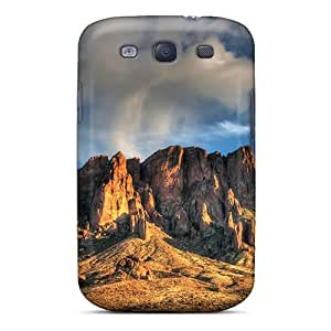 High Grade Sandrower Flexible Tpu Case For Galaxy S3 - Gorgeous Desert Mountain
