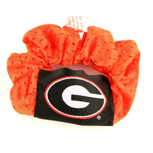 - Georgia Bulldogs Red Hair Scrunchie - Hair Twist - Ponytail Holder by NCAA