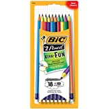 BIC Xtra-Fun Graphite Pencil, 2 HB, 18-Count