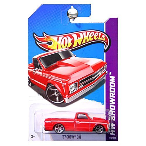 Hot Wheels 2013 HW Showroom Hot Trucks 1967 67 Chevy C10 Pickup Truck in Red