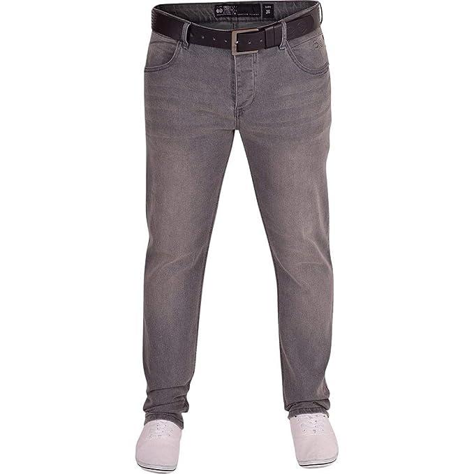 2adda2a7e2b Crosshatch Mens Jeans Jet Black and Blue Men s Straight Leg Denim with Free  Black Belt 30W
