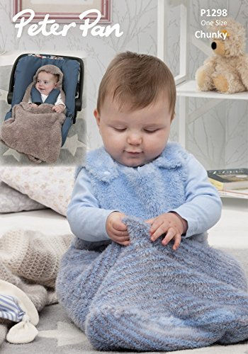 Peter Pan Baby Snuggle Bag Car Seat Blanket Precious Knitting