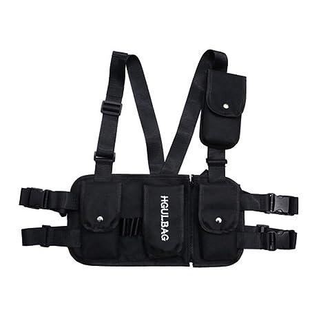 a6a6e4eab Amazon.com : Tlsh Fashion Chest Rig Waist Bag Streetwear Functional  Tactical Hip Hop Shoulder Bag Multipurpose Sport Backpack Crossbody Bags  for Men Women ...