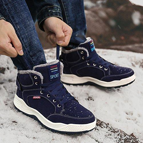 AFFINEST Zapatos de Invierno Hombre Botas de Nieve Calentar Plano Botines Casual Deportivos al Aire Libre Anti-Deslizante Zapatos: Amazon.es: Zapatos y ...