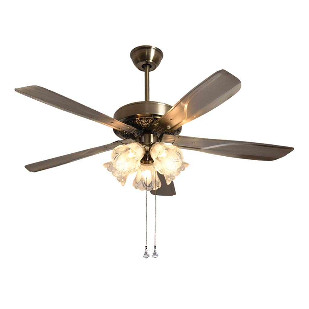 Amazon.com: Ceiling Fans Fan light, wrought iron light home ceiling ...