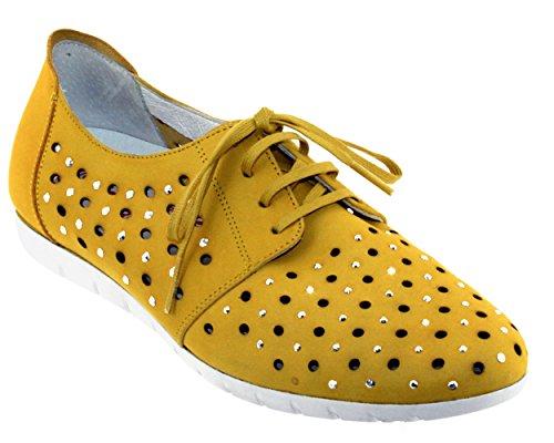 Sabrinas Mujer de Zapatos Vuelta Cordones de Piel qzAfnxzYrw