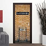 Wall Door Decal Platform sticker, mural home decor,film 30x79'' (77x200 Cm)