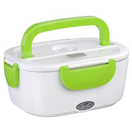01fafb0b097e Yescom 1.5L Portable Electric Heating Lunch Box Food Storage Warmer w/Stain  Steel & PP Removable Container Green