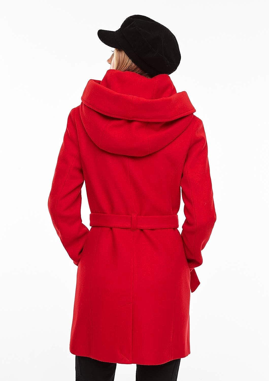 s.Oliver Damen Mantel Rot (Red Carpet 3125)