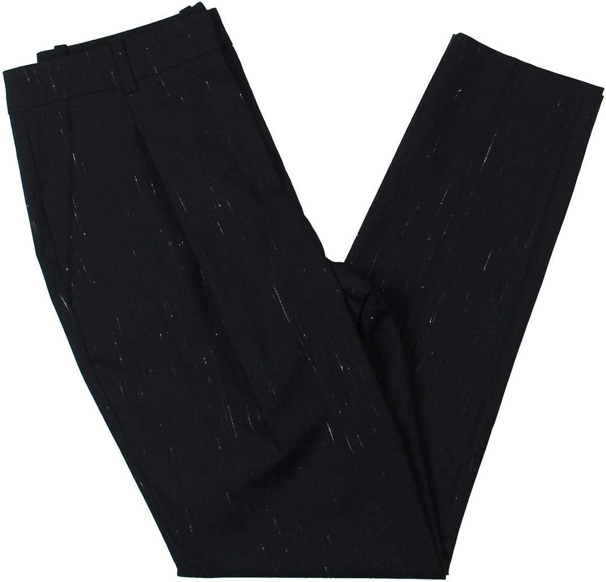 Jil Sander Navy Womens Pattern Pleated Dress Pants