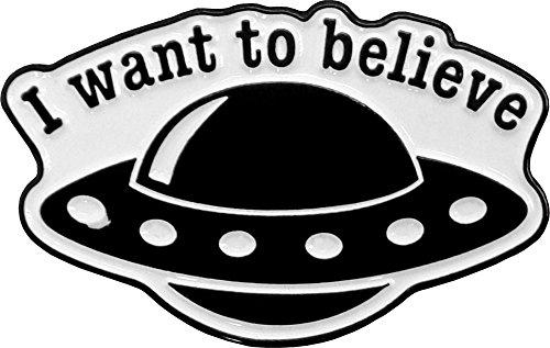 - Matt Stewart, I Want to Believe Spaceship, Licensed Original Artwork, Expertly Designed ENAMEL PIN - 1.25 x 0.60