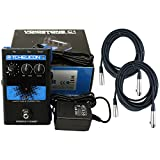 TC Helicon C1 Pitch-correction Effects Pedal w/Power Supply and 2 20' XLR Mic Cables