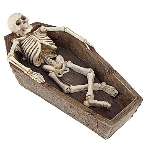 Design Toscano Lounging Skeleton Casket Catch-all Sculpture -