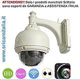 Sricam Italia SP015 Ip Camera SP Wireless HD, LED 20 m, Onvif Motorizzata