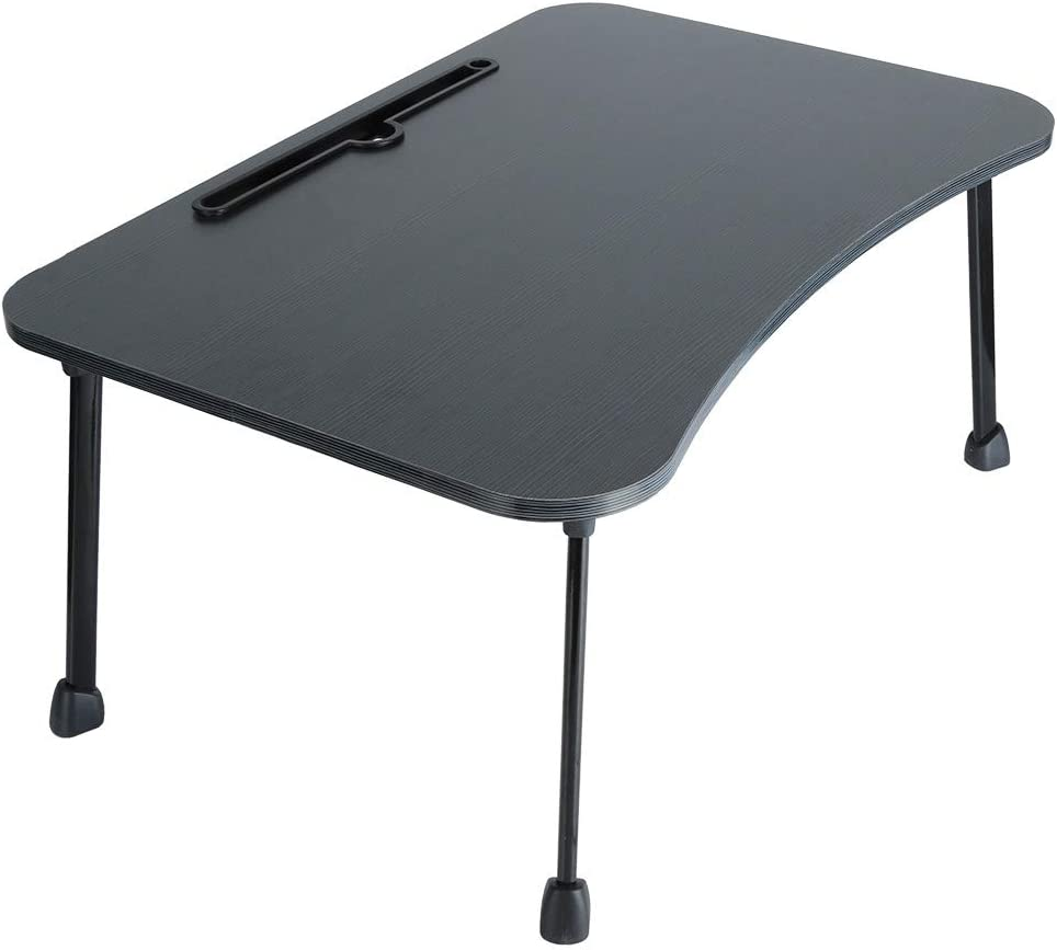 Blue-cat Large Bed Tray Foldable Portable Multifunction Laptop Desk Lazy Laptop Table Computer Desk (Black)