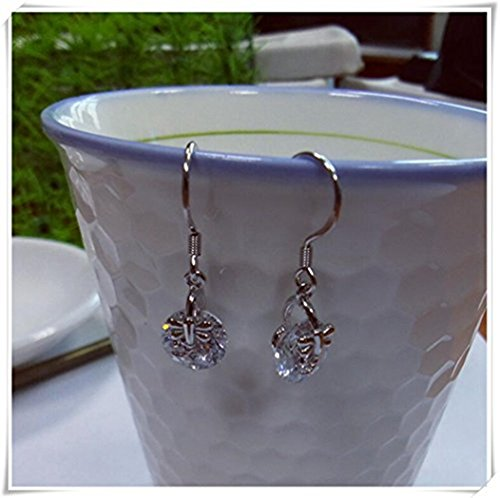 - Sterling Silver Zircon ear threader earrings, chain earrings, ear threads everyday jewelry, gift for her